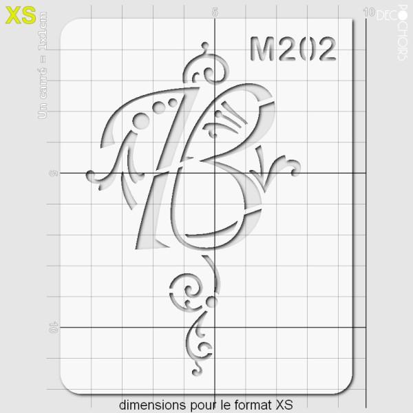 Pochoirs lettrine et monogramme baroques: B - Photo n°2