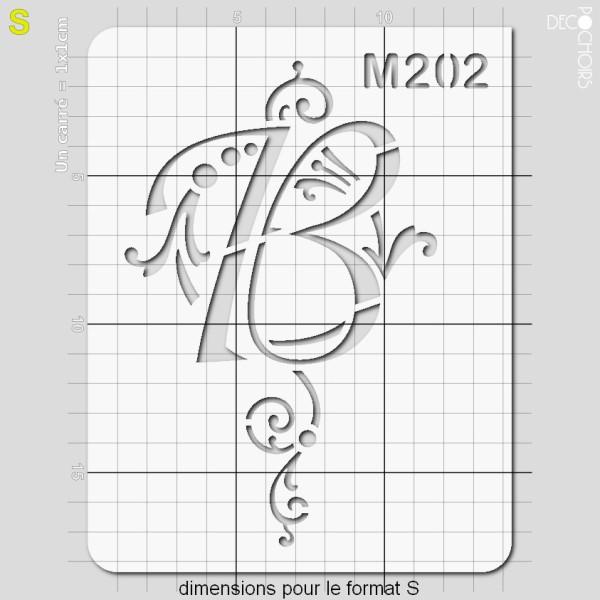 Pochoirs lettrine et monogramme baroques: B - Photo n°3