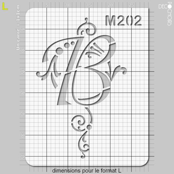 Pochoirs lettrine et monogramme baroques: B - Photo n°5