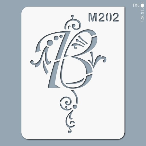 Pochoirs lettrine et monogramme baroques: B - Photo n°1