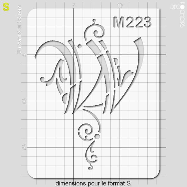 Pochoirs lettrine et monogramme baroques: W - Photo n°3