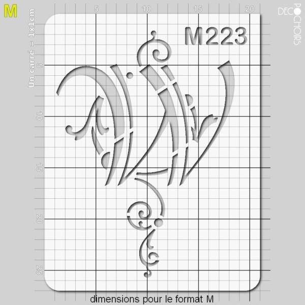 Pochoirs lettrine et monogramme baroques: W - Photo n°4