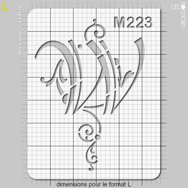 Pochoirs lettrine et monogramme baroques: W - Photo n°5
