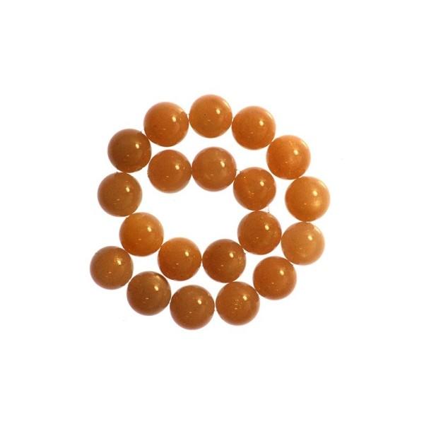 5 x Perle Pierre de Lune Chocolat 4mm - Grade A - Photo n°2