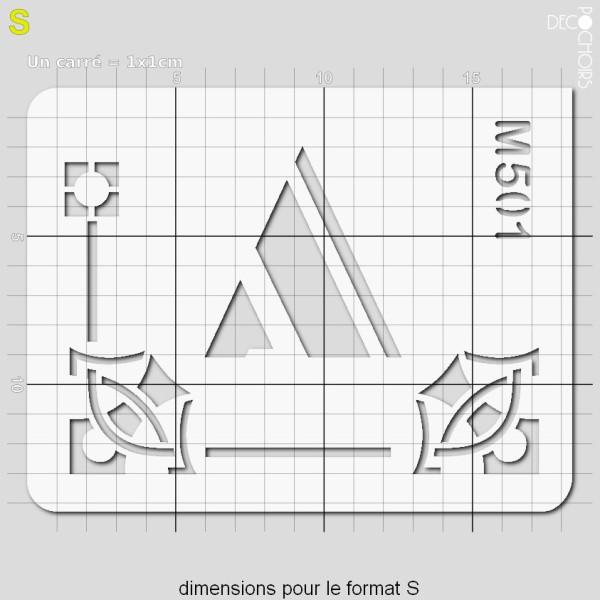 Pochoirs lettrine et monogramme art déco: A - Photo n°3