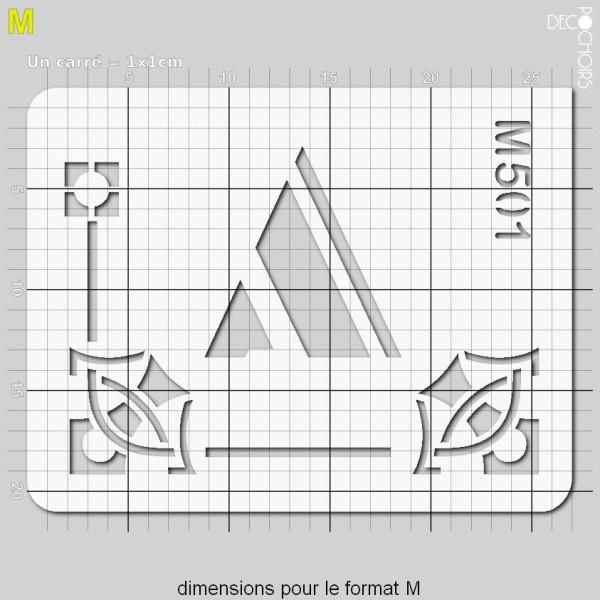 Pochoirs lettrine et monogramme art déco: A - Photo n°4