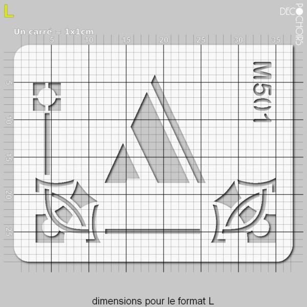 Pochoirs lettrine et monogramme art déco: A - Photo n°5