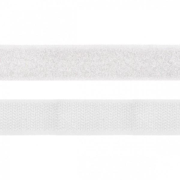 Velcro 20mm male + femelle Blanc - Photo n°1