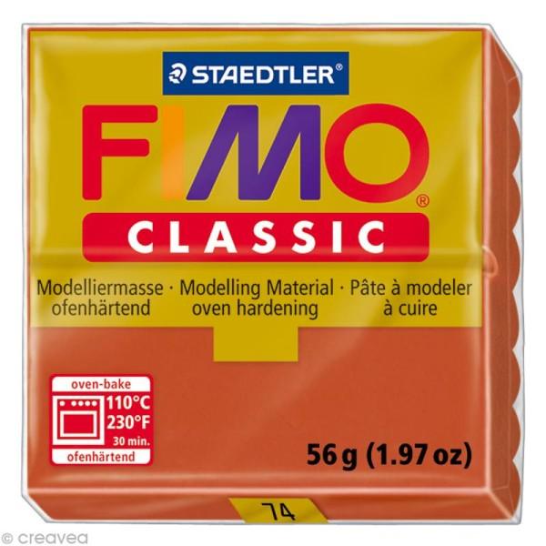 Fimo Classic Marron terre cuite 74 - 56 gr - Photo n°1