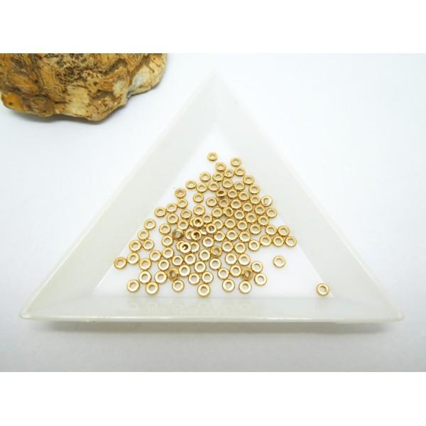 25 Perles rondelles style Heishi en laiton doré - 3mm - Photo n°1