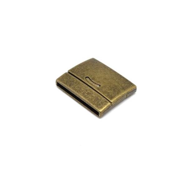Fermoir Aimanté 30mm Pour Bracelet Multirangs En Métal De Couleur Bronze - Manchette - Photo n°3