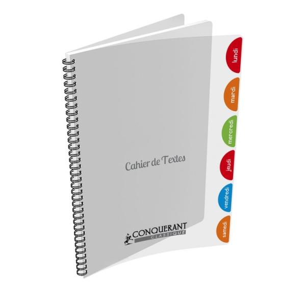 Cahier de textes polypro transparent - Photo n°1