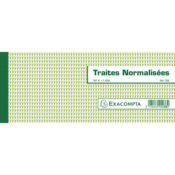 Carnet de Traites normalisées - Photo n°1