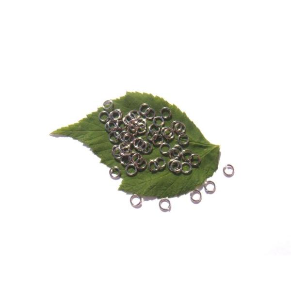 200 anneaux de jonction 5 MM de diamètre laiton argenté sans nickel ni plomb - Photo n°1