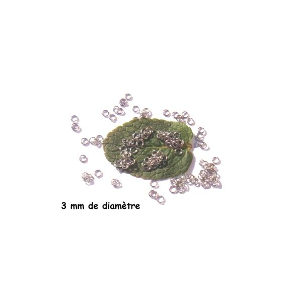 Lot 200 Anneaux 3 MM de diamètre extérieur Acier Inoxydable - Photo n°1