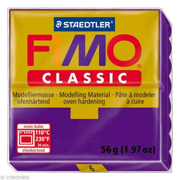 Fimo Classic Violet lilas 6 - 56 gr - Photo n°1