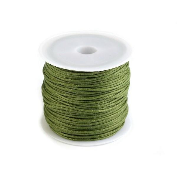 1pc 11 Vert en Coton Ciré Ø0.8 mm, Bracelet de l'Amitié, de la Bohème Bracelet, la prise de Conscien - Photo n°1