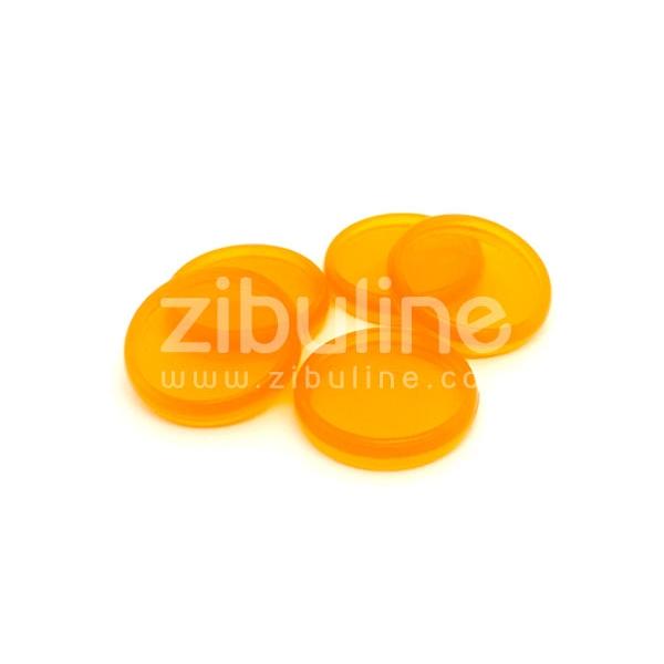 Disques à relier - Transparent orange - Photo n°1