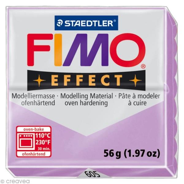 Pâte Fimo Effect Violet mauve pastel 605 - 56 gr - Photo n°1