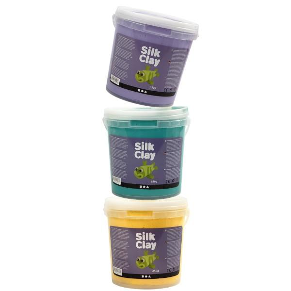 Pâte à modeler autodurcissante Silk Clay - Plusieurs coloris - 650 g - Photo n°1