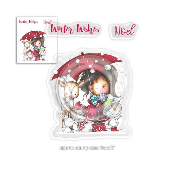 Tampon clear Polkadoodles - Winnie - Winter Wishes - 3 pcs - Photo n°1