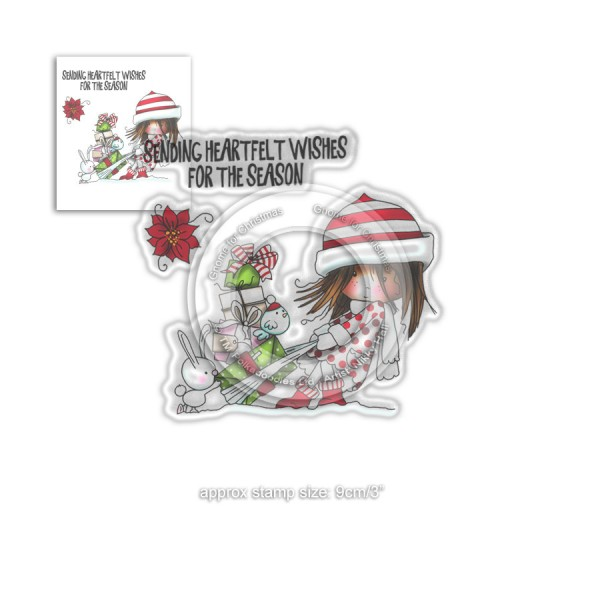 Tampon clear Polkadoodles - collection Winnie - Heartfelt Wishes - 3 pcs - Photo n°1