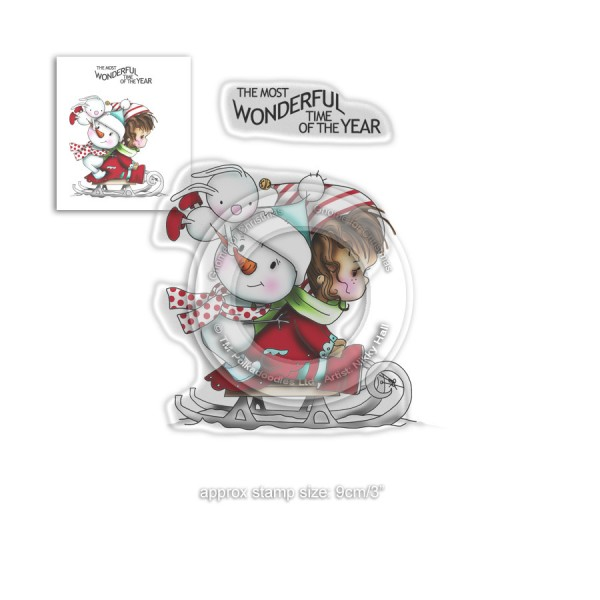 Tampon clear Polkadoodles - collection Winnie - Most Wonderful Time - 2 pcs - Photo n°1