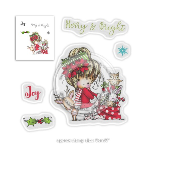 Tampon clear Polkadoodles - collection Winnie - Merry & Bright - 5 pcs - Photo n°1