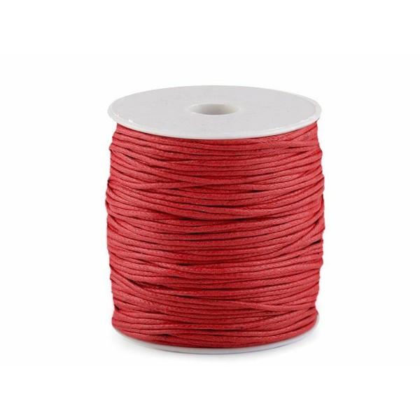 1pc Rouge Fraise Coton Ciré Ø1,5-2mm, des ficelles, des Cordes Et des Chaînes, Mercerie - Photo n°1