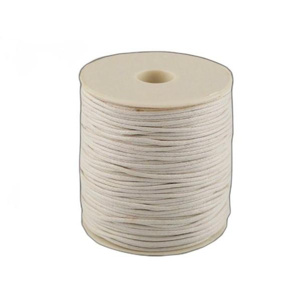 1pc Blanc en Coton Ciré Ø1,5-2mm, des ficelles, des Cordes Et des Chaînes, Mercerie - Photo n°1