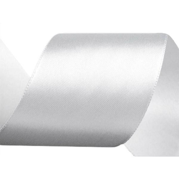 22,5 m de Ruban de Satin Blanc Largeur 40 mm, Simple Face, Rubans - Unique de la Couleur, de la Merc - Photo n°1