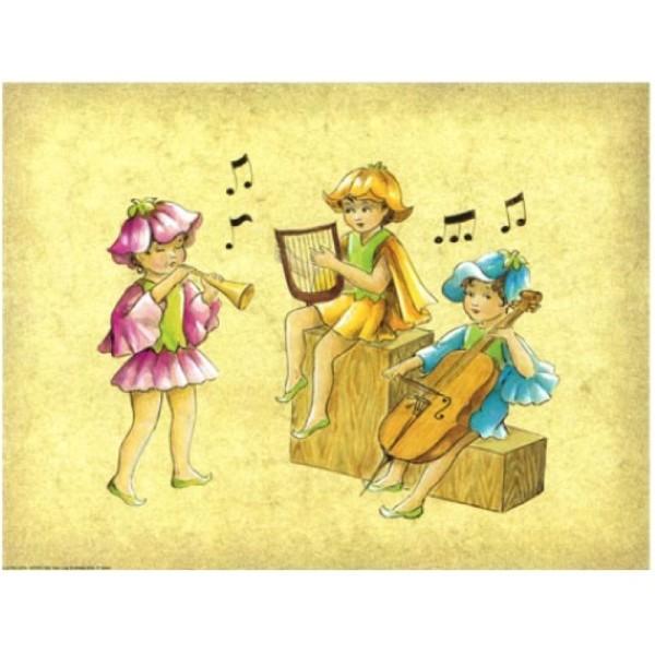 Image 3D - Astro 562 - 24x30 - Enfants musiciens - Photo n°1