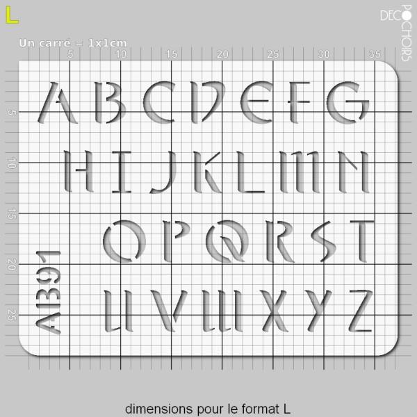 Pochoir lettres majuscules - Photo n°5