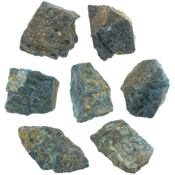 Pierre brute bloc d'apatite bleue - A l'unité - Poids 801 à 900 grammes - Photo n°3