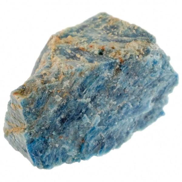Pierre brute bloc d'apatite bleue - A l'unité - Poids 801 à 900 grammes - Photo n°1