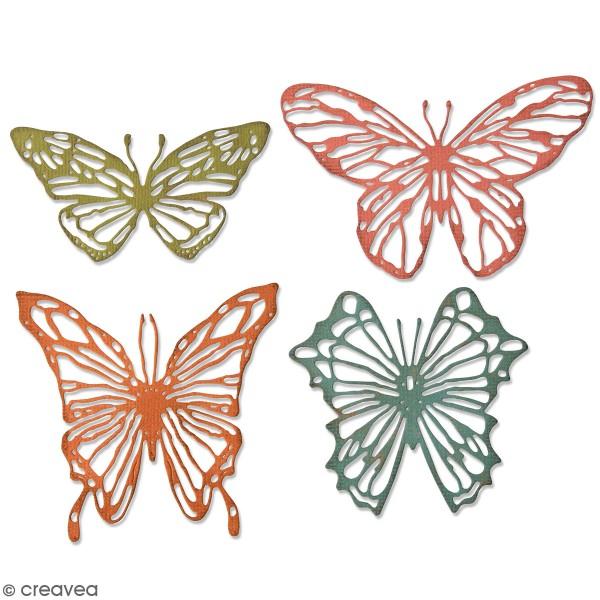 Set de matrices Sizzix Thinlits - Papillons Stylisés - 8 Pcs - Photo n°1