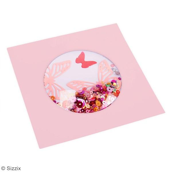 Dômes Shaker Sizzix - Cercles - 6,3 x 6,3 x 1,2 cm - 6 pcs - Photo n°2