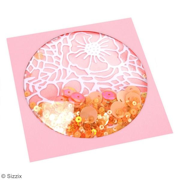 Dômes Shaker Sizzix - Cercles - 8,9 x 8,9 x 1,2 cm - 4 pcs - Photo n°2