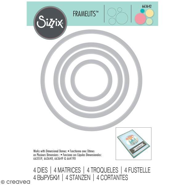 Set de matrices Sizzix Framelits - Cercles - 4 pcs - Photo n°1