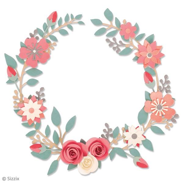 Set de matrices Sizzix Thinlits - Couronne fleurs et roses - 6 Pcs - Photo n°2