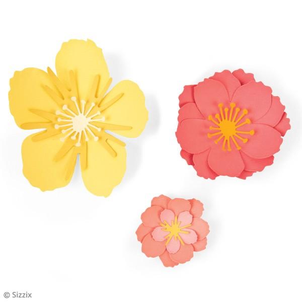 Set de matrices Sizzix Thinlits - Fleurs 3D - 7 Pcs - Photo n°2
