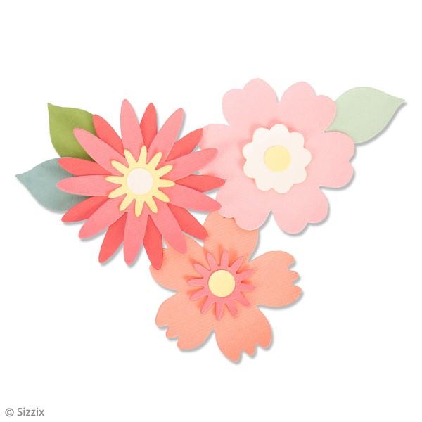 Matrice Sizzix Bigz - Ensemble de fleurs - Photo n°2