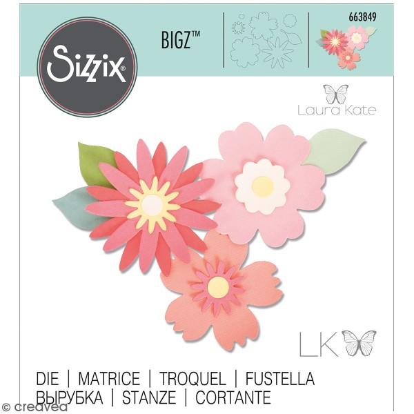 Matrice Sizzix Bigz - Ensemble de fleurs - Photo n°1