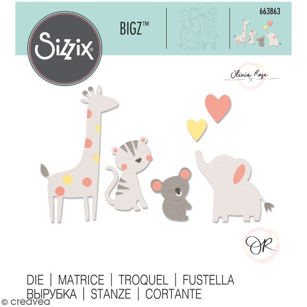 Matrice Sizzix Bigz - Petits amis - Photo n°1