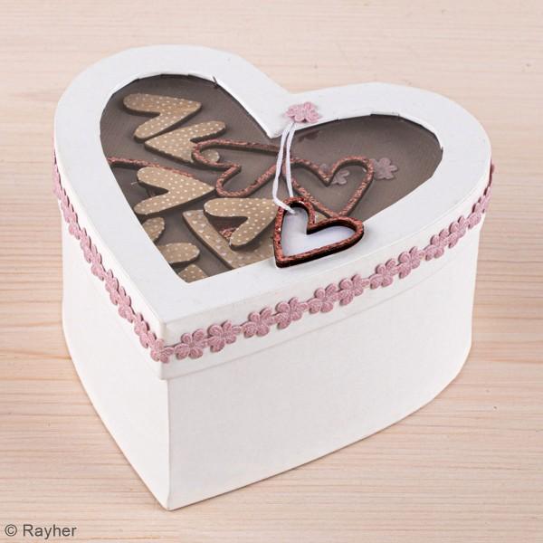 Miniatures en bois - Coeurs stylisés - 2 à 4 cm - 15 pcs - Photo n°2