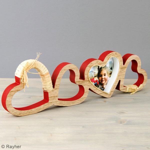 Coeurs en bois à décorer - 39 x 11 x 2 cm - Photo n°2