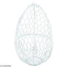 Cage décorative - Oeuf - 13 x 20 cm