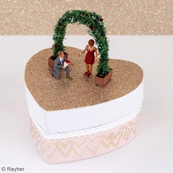 Figurines miniatures en polyrésine - Décoration végétale - 4 pcs - Photo n°2