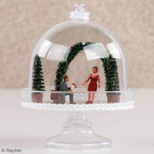 Figurines miniatures en polyrésine - Décoration végétale - 4 pcs - Photo n°3