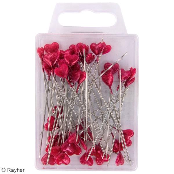 Epingles de décoration 55 mm - Coeur rouge - 50 pcs - Photo n°2